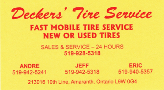 Deckers Tire Service