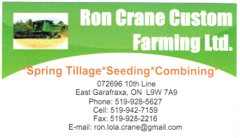 Ron Crane Custom Farming Ltd.